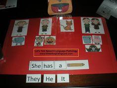 Let's Talk Speech-Language Pathology: Tissue Box Preschool Pronouns