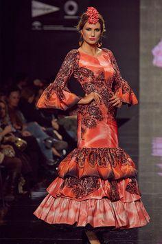 Traje de flamenca Rojo Estampado Manga larga