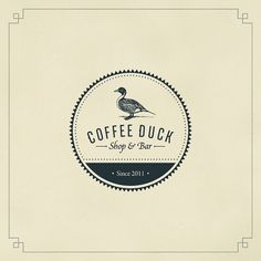 Coffee Duck on Typography Served in Coffee