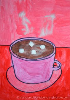 """""""Hot Chocolate Paintings"""" (perspective of round objects)"""
