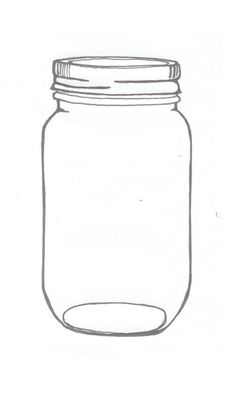 CLIP ART :: Large clamp mason jar (CLICK FOR MORE JAR
