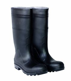 CLC Rain Wear Over The Sock Black PVC Men's Rain Boot, Size These standard black PVC rain boots have a durable cleated sole for improved traction and are sized to be worn with your thick socks. Mens Rain Boots, Men Boots, Women's Boots, Mens Waterproof Boots, Good Work Boots, Steel Toe, Rain Wear, Hunter Boots, Black Boots