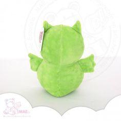Buho de peluche verde - 20cm
