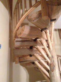 Custom Spiral Log Staircase