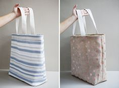 DIY | Honeymoon Beach Bag :: excellent, easy to follow photos-- one of the best tutorials i've seen on making a bag. :]