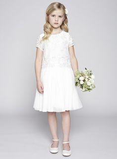 Tilly Ivory Flower Girl Dress