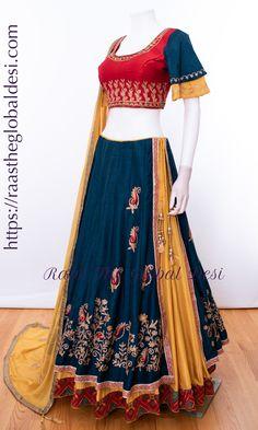 Half Saree Lehenga, Lehnga Dress, Indian Lehenga, Cotton Lehenga, Lehenga Blouse, Chiffon Saree, Indian Gowns Dresses, Indian Fashion Dresses, Indian Designer Outfits
