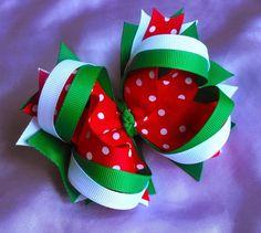Christmas Polka Dot Loopy Bow
