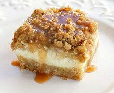 Caramel Apple Crumble Bars
