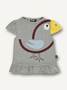 Bird tee s/s - grey melange