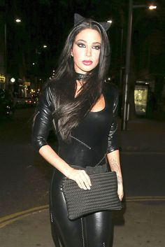 Tulisa Contostavlos was spotted at Bodo's Schloss Faux Leather Leggings, Leather Skirts, Leather Pants, Tulisa Contostavlos, Fantasy Women, Wet Look, Other Outfits, Celebs, Celebrities