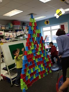 Spy Towers: Give two teams an equal number of plastic cups. See who can build the tallest tower in the allotted time. Great teamwork game & kids LOVE it!! I use it for indoor recess during the school year. It is VERY popular!! FYI ~ You can get the different color cups at Wal-Mart.