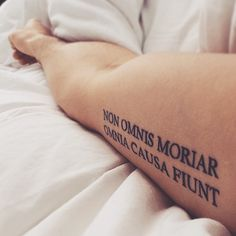 Non Omnis Moriar. Omnia Causa Fiunt -  Not all of me shall die. Everything happens for a reason • VOX