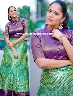 Anasuya Bharadwaj in Vasavi Label | Fashionworldhub