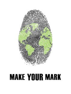 I like how it's a thumbprint that they made look like the earth and how it ties in with making your mark and let's you know what the yearbook theme will be. Yearbook Mods, Yearbook Covers, Yearbook Ideas, Yearbook Theme, Yearbook Spreads, Yearbook Layouts, Logo Inspiration, Brochure Layout, Corporate Brochure