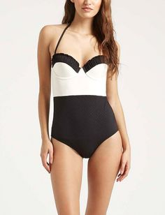 Packing this darling Topshop one-piece swimsuit on the next vacation.