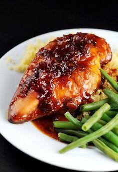 SlowCooker Apricot Glazed Chicken