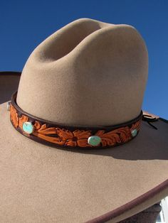 cec3ea9e409 12 Best LEATHER HATBANDS by Madri Leatherworks images