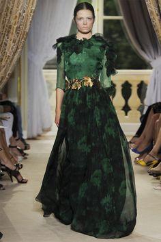Giambattista Valli Green Prom Dresses Long Maxi Fashion