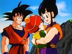 Goku , Milk y Gohan - Dragon Ball Z
