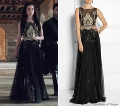 In the eighteenth episode Mary wears this Notte by Marchesa Embroidered Organza and Tulle Gown ($995).