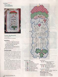 cut santa to cross stitch