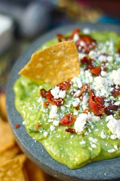 Bacon cotija guacamole | Absolutely Avocados, posted on The Seaside Baker