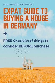 How to avoid pitfalls when buying a house in Germany as a foreigner.   Download a FREE checklist of things to consider and inspect BEFORE buying a house in Germany.   #expatlife #expat #liveabroad #lifeabroad #europe #expatinEU #expattips #housing #investing #investmenttips #workabroad