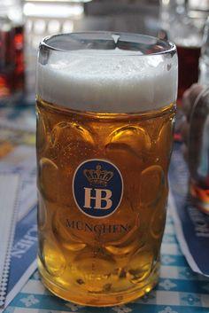 Drink German beer during Oktoberfest.