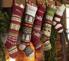 Celebrate the holidays with holiday decorations and more from Pottery Barn Kids. Prepare for every holiday and shop Thanksgiving, Hanukkah, and Christmas decorations for the whole house. Christmas Stocking Pattern, Knitted Christmas Stockings, Christmas Knitting, Christmas Patterns, Christmas Time Is Here, Winter Christmas, Christmas Home, Christmas Ideas, Holiday Ideas