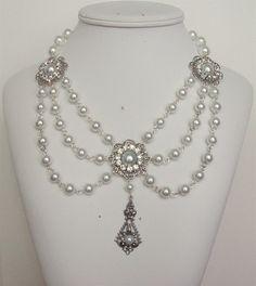Renaissance Necklace Medieval Necklace Tudor by DRAGONPIPES