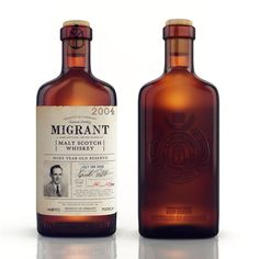Migrant Whiskey by Chad Michael, via Behance