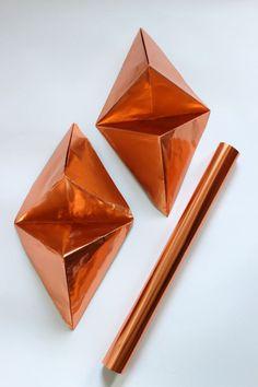 ludorn Origami Triangle Wandobjekte in Kupfer 2