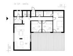 Výstavba rodinných domov - IDEÁLNE DOMY L Shaped House Plans, Pool House Plans, Basement House Plans, Small House Plans, Small House Layout, House Layout Plans, House Layouts, Modern Minimalist House, Small Modern Home