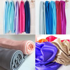 SHINY SILKY STRETCH SATIN FABRIC WEDDING DRAPERY DRESS COSTUME STUDIO 4 YARDS  | eBay