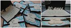 Modelo Sônia - CS#02: Convite para Casamentos, Noivados, Bodas. Tamanho: 12x16cm (fechado), com formato especial, fita de cetim, aplique frontal, papel especial e recorte interno.