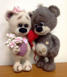 VK is the largest European social network with more than 100 million active users. Crochet Animal Amigurumi, Crochet Teddy, Knitted Animals, Knit Or Crochet, Cute Crochet, Amigurumi Doll, Amigurumi Patterns, Crochet Crafts, Crochet Dolls
