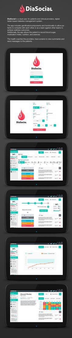 DiaSocial App on Behance