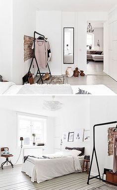 a lovely small apartment in gothenburg by the style files bedroom bed home inter. - a lovely small apartment in gothenburg by the style files bedroom bed home interior decor style - Small Apartments, Small Spaces, Small Rooms, Home Bedroom, Bedroom Decor, Bedroom Ideas, Master Bedroom, Ikea Bedroom, Bedroom Storage