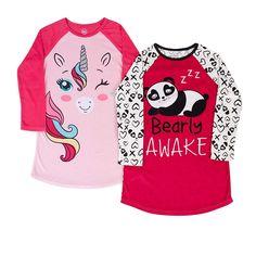 c60b46387 Plus Size Wonder Nation Fleece Raglan Sleeve Sleep Gown (Little Girls & Big  Girls), Size: Kids 4 Plus, Red