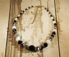 Not Just Black and White Necklace. See more at: http://www.beadelish.com