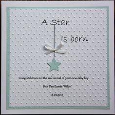 Boy birth announcement/christening/welcome new baby card