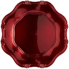 Red Scallop Charger  $4.95