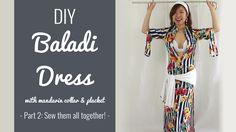 DIY Baladi Dress with mandarin collar and placket sew