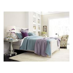 Blue and Purple bedding -- Harbor Bed in Beds | Crate and Barrel