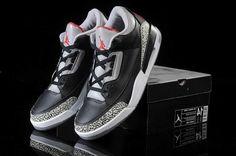 80f9d27f542c3f Nike Air Jordan 3 Mens Retro Limited Edition Black Grey Shoes