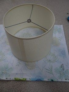 adding fabric to lamp shades