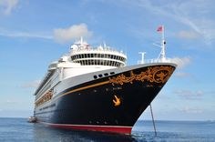 The Disney Magic from our tender boat in Grand Cayman