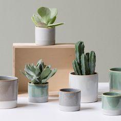Display green delights in wonderful ceramics, the sisters suggest. Flowerpots from DKK 9,48 / EUR 1,34 / ISK 239 / NOK 13,70 / GBP 1,29 / SEK 13,60