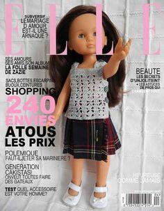 Un débardeur pour poupée Chérie - modèle gratuit: 1) http://bel47charp.over-blog.com/article-ensemble-kilt-pour-poupee-cherie-120676874.html 2) http://chezflomelle.over-blog.com/article-un-debardeur-pour-poupee-cherie-modele-gratuit-102407660.html